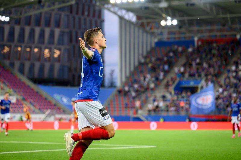 Henrik Udahl putta to for rekruttlaget (Foto: Morten Mitchell Larød / SPORTFOTO)